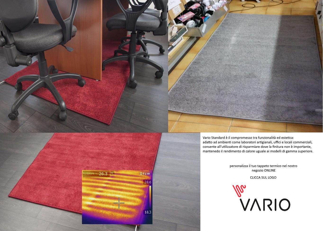 tappeto termico elettrico arrotolabile